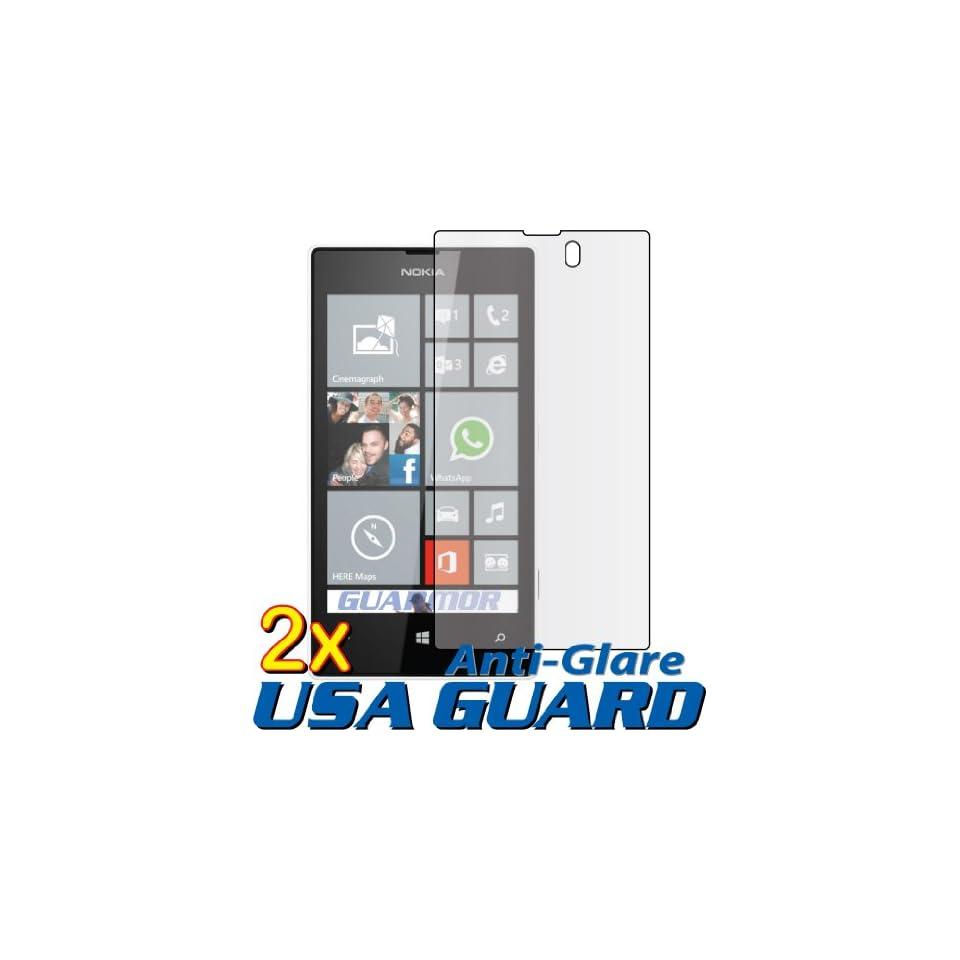 2x Nokia Lumia 521 (T Mobile) Premium Anti Glare Anti Fingerprint Matte Finishing LCD Screen Protector Guard Shield Cover Kits. (GUARMOR Brand)