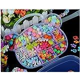 Idealgo Colorful Acrylic Beaded DIY Necklace & Bracelet Beads Set Colorful Acrylic Beads DIY Color Woven Bracelet...