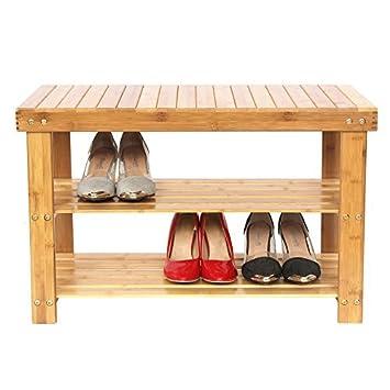 rangement chaussures bambou