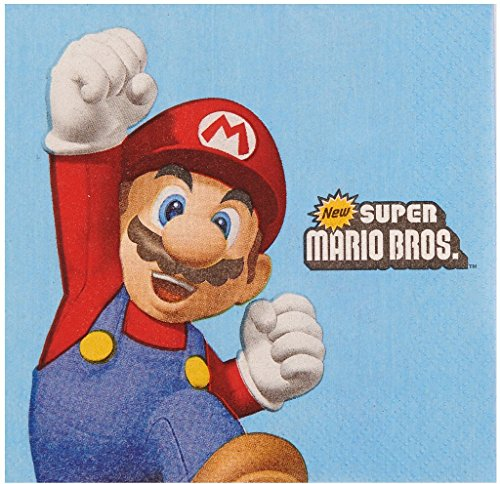 Super Mario Party Beverage Napkins (20) by Party Destination