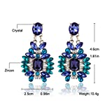 Duo La Unique Ethnic Style Luxurious Cubic Zirconia Lady Dangle Earrings
