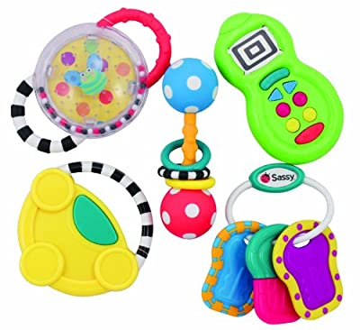 Sassy 5 Piece Developmental Toy Gift Set, 6 Month+ from Sassy