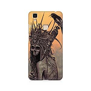 Mobicture Skull Abstract Premium Printed Case For Vivo V3 Max