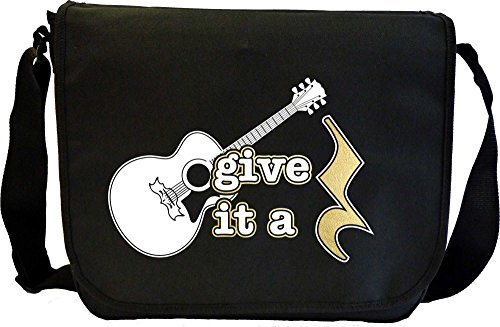 Acoustic Guitar Give It A Rest - Sheet Music Document Bag Borsa Spartiti MusicaliTee