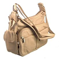 Discount Stylish Clothing & Apparel - Genuine Leather Handbag with Cell Phone Holder & Many Pockets