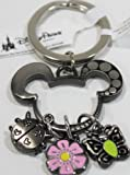 Disneys Mickey Mouse Ears w/ Flower, Lady Bug & Butterfly Charms Keychain - Disney Parks Exlcusive & Limited Availibility