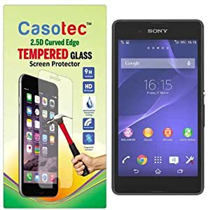 Casotec 2.5D Curved Edge Tempered Glass Screen Protector for Sony Xperia E3