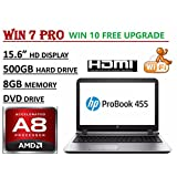 Newest HP 15.6-inch Premium Business Laptop PC, AMD Quad-Core A8-7410 Processor, 8GB RAM, 500GB HDD, DVD-RW, HDMI...