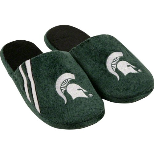 Michigan State Spartans Hard Sole Stripe Slipper at Amazon.com