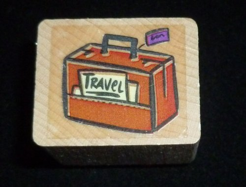 Travel Suitcase Rubber Stamp