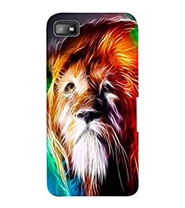 ColourCraft Lion Look Design Back Case Cover for BLACKBERRY Z10