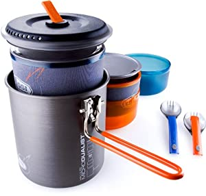 GSI Outdoors Halulite MicroDualist Cookware Set by GSI