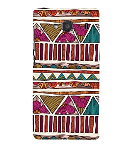 Abstract Pattern Cute Fashion 3D Hard Polycarbonate Designer Back Case Cover for Xiaomi Redmi 2S :: Xiaomi Redmi 2 Prime :: Xiaomi Redmi 2