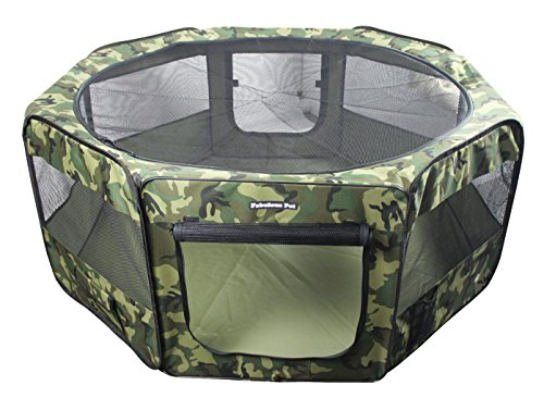 Portable Doggie, Puppy, Cat, Kitten Play Pen, Medium Size front-1046595