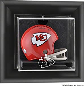 Kansas City Chiefs Framed Wall Mounted Logo Mini Helmet Display Case by Mounted Memories
