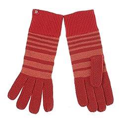 ISO Isotoner Women's Striped Azalea Pink Heathered Light Weight Gloves, One Size