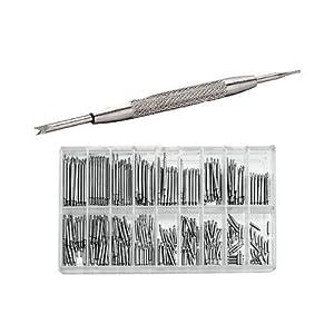 1 Montre bracelet réparation+360x Barrette Ressort Tige Montre Réparation 6-23mm