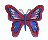 Good Orange And Blue Butterfly Iron On Patch For Kids Baby - High Quality