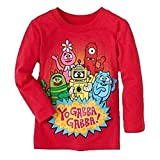 Yo Gabba Gabba Red Long Sleeve Shirt Tee Toddler Girl Or Boy 4T