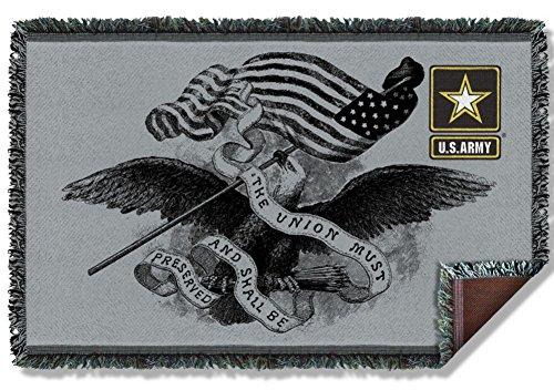 Woven Throw: Union U.S. Army AR132TAP
