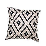 Malloom® Simple Geometric Argyle Linen Case Cushion Cover Free Shipping
