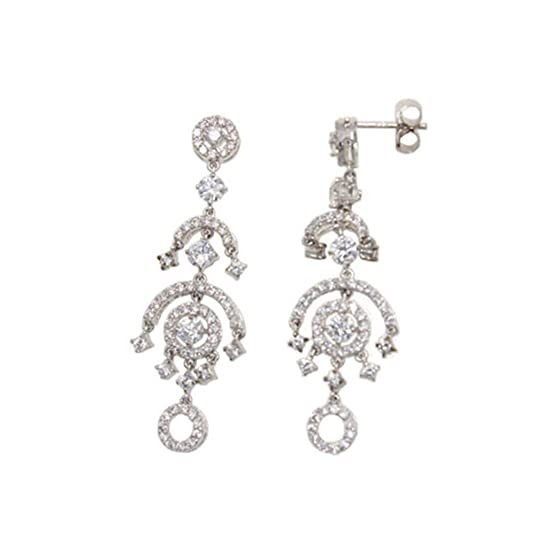 Earrings silver and Zirconia de Epoca