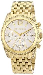 Michael Kors Damen-Armbanduhr Chronograph Quarz Edelstahl beschichtet MK5835
