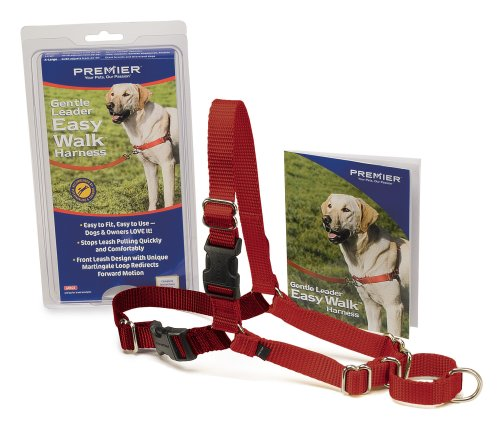 Premier Easy Walk Pet Harness, Large, Black/Silver