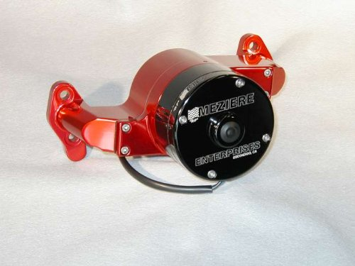 Meziere Enterprises Wp101R Small Block Chevy Electric Water Pump - Red - 35Gpm