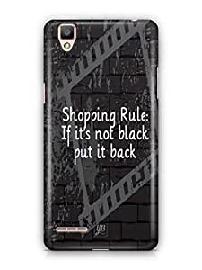 YuBingo If It's not black, put it back Mobile Case Back Cover for Oppo F1
