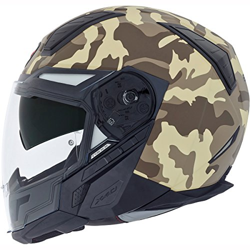 Motorcycle Nexx X40 Camo Helmet Tan L UK