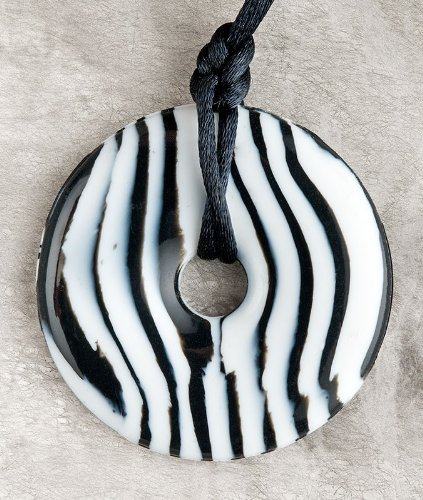 Teething Bling Zebra Pendant - 1