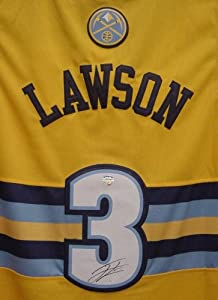 Ty Lawson Denver Nuggets Autographed Yellow #3 Jersey by Sports-Autographs