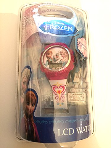 Disney Frozen Elsa & Anna LCD Purple Face Watch - 1