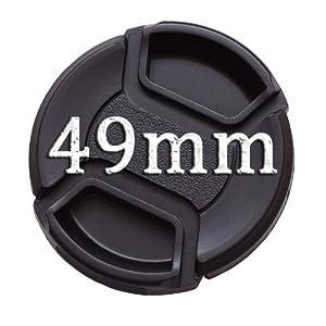 IMZ Lens Cap Bundle - 4 x 49MM Front Lens Filter Snap On Pinch Cap Protector Cover for DSLR SLR Camera Lens 49x4 (Tamaño: 49 mm)