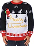 Ugly Christmas Sweater - Men's Yellow...