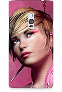 Amez designer printed 3d premium high quality back case cover for OnePlus Two (Pink Sugar Girl)