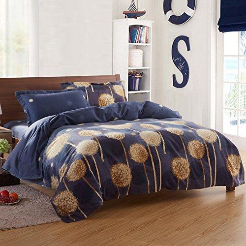 HlA Set di Set di quattro pezzi di biancheria da letto Il cotone quattro pezzi letto doppio foglio Copripiumino Biancheria da letto Set di quattro addensato , tarassaco ,CONVENZIONI DA 1,8 m (6 ft) Letto