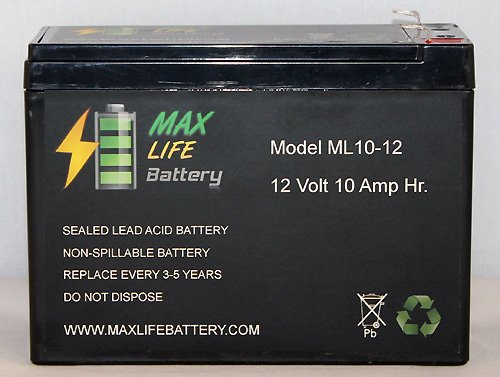 Ml10-12 - 12V 10Ah Scooter Battery Replaces Pihsiang 109101-77300-10P