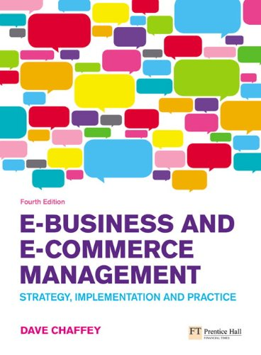E-business and E-commerce Management ISBN-13 9780273719601