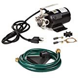 Trupow 1/10HP 330GPH 115-Volt Mini Portable Utility Transfer Water Pump with Water Hose Kit