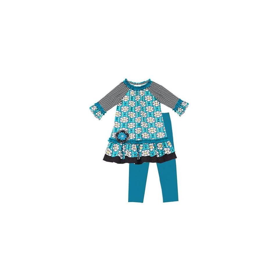649148ff6a3c Rare Editions Toddler Girls Flower Print Dress Outfit Legging Set ...