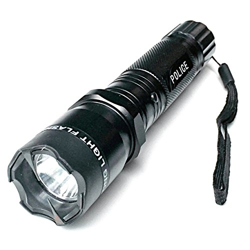 Tactical Police Stun Gun 75 Million Volt Metal Case Rechargeable Triple Mode LED Flashlight Built in Charger & Battery by Stuns R Us (Police Flashlight Stun Gun compare prices)