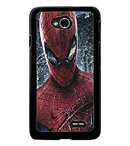 PrintDhaba Spiderman D-5186 Back Case Cover for LG L90 (Multi-Coloured)