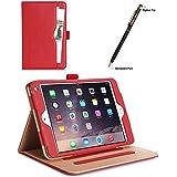 ProCase iPad mini 4 Case - Leather Stand Folio Case Cover for 2015 Apple iPad mini 4 (4th generation iPad mini, mini4), with Multiple Viewing angles, auto Sleep/Wake, Document Card Pocket (Red)