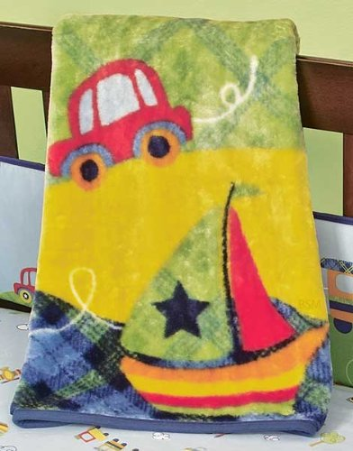 Beansprout Going Places High Pile Crib Blanket