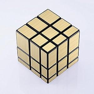JohnsDollarStore 3x3x3 Puzzle Magic Mirror Cube Gold