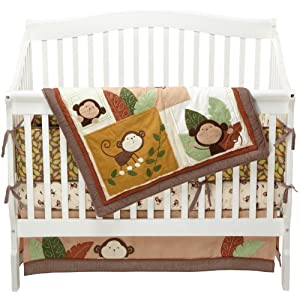 Carter's Monkey Bars 4 Piece Crib Bedding Set 