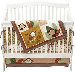 Amazon Com Carter S Monkey Bars 4 Piece Crib Bedding Set