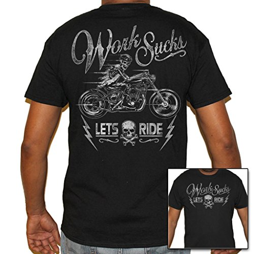 Biker Life USA Men's Work Sucks Rider T-Shirt